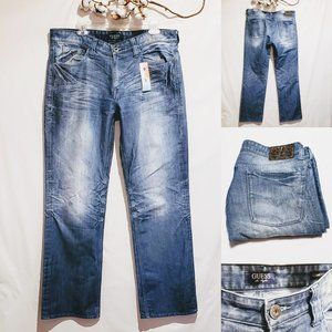 """🦅Guess Jeans """"Desmond"""" Relaxed Straight 36x32🦅"""
